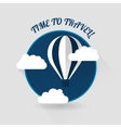 Time to travel modern flat style icon vector image