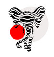 abstract silhouettes elephant vector image vector image