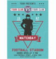 american football flyer matchday poster template vector image
