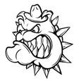 an of a fierce bulldog animal vector image vector image