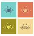 assembly flat animal crab vector image vector image