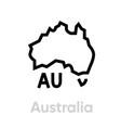 australia icon map with tasmania icon