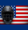 baseball catcher mask helmet vector image