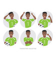 black african american soccer player different vector image vector image