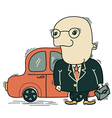 Businessman and car vector image