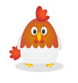cartoon cute rooster on a rounded shape vector image