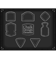 chalk design elements vector image vector image