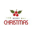 christmas greetings card with typography and vector image vector image