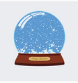 christmas of snow globe vector image vector image