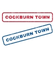 Cockburn Town Rubber Stamps vector image vector image