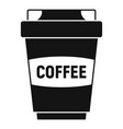 coffee plastic cup icon simple style vector image
