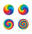 color swirl twist radial rainbow round design vector image