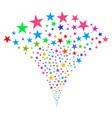 confetti star fountain stream vector image vector image