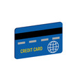 credit card symbol flat isometric icon or logo 3d vector image vector image