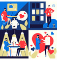 dating app - flat design style colorful vector image vector image