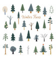 decorated xmas trees new years tree striped vector image
