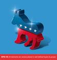 Democratic Party 3D Sighn vector image