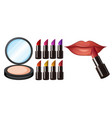 different lipstick colour make up vector image