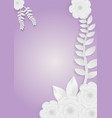 flowers with vines on a purple background vector image vector image