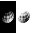 halftone globe sign vector image