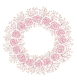 Hand drawn rose frame vector image vector image