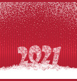 happy new year red festive curtain background and vector image vector image