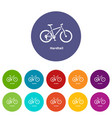 hardtail bike icon simple style vector image vector image
