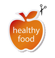 healthy food icon vector image vector image