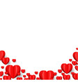 hearts border isolated vector image vector image