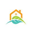 house green leaf nature logo