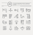 house remodel icons vector image vector image