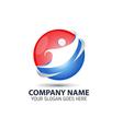Human Technology Logo Icon vector image vector image