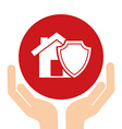 insurance icon vector image vector image