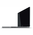 Laptop Right Side Horizontal View vector image vector image