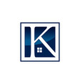 letter k real estate logo design template vector image