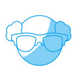 man with glasses icon vector image