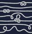marine rope knot seamless pattern vector image vector image