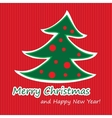 Merry Christmas postcard with fir vector image