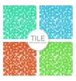 Mosaic tile backgrounds vector image