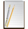 notebook pens vector image vector image