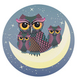 Owl on the Crescent Moon vector image vector image
