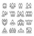 people team line icon set vector image vector image