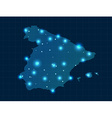 pixel Spain map with spot lights vector image vector image
