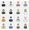 Profession set icons vector image vector image