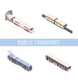 public transport isometric banner template vector image vector image