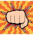 punching hand with a clenched fist aimed vector image vector image