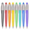 Realistic Color Pen Set vector image vector image