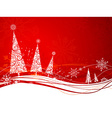Red winter background vector image vector image