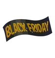 Ribbon black friday icon cartoon style vector image vector image
