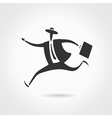 Running businessman vector image